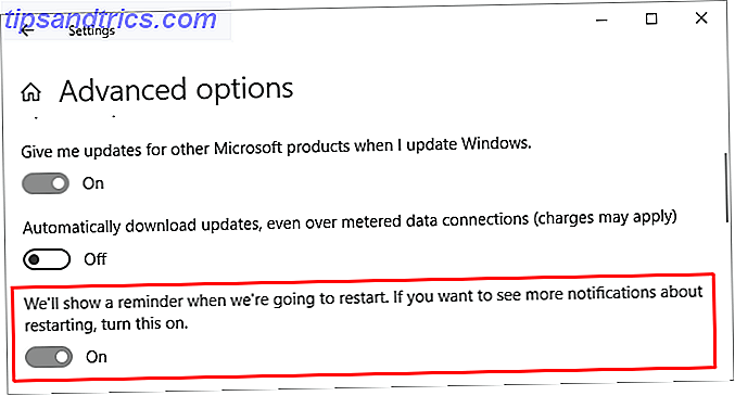 Windows 10 Opzioni avanzate di Windows Update