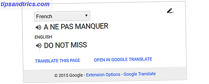google translate chrome extension
