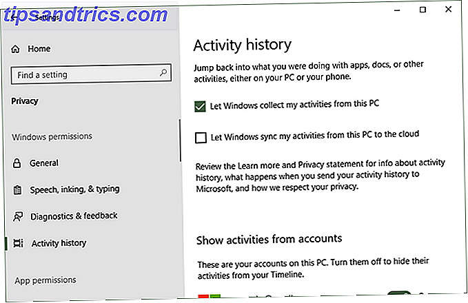 configurare e utilizzare la timeline di Windows 10