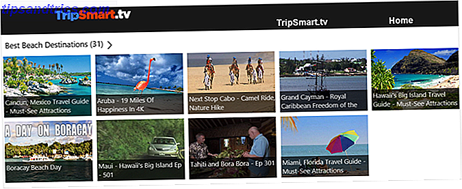 aplicación de windows tripsmart tv
