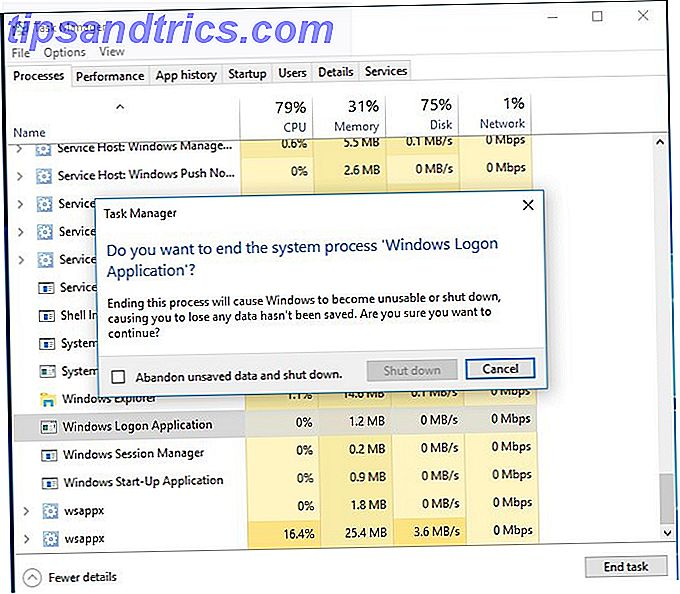 demande d'ouverture de session Windows