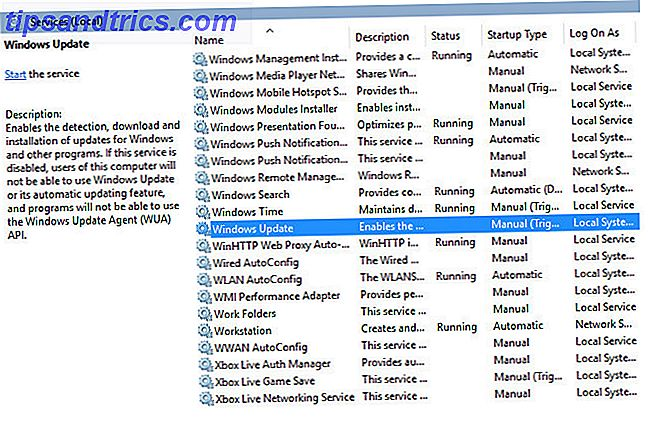 Windows Local Services Console