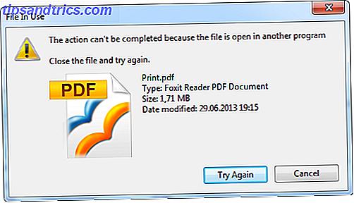 Windows Explorer cree que el archivo que intentas eliminar aún está abierto, pero no es así.  Los archivos bloqueados son un problema común.  Afortunadamente, se resuelve fácilmente en la mayoría de los casos.