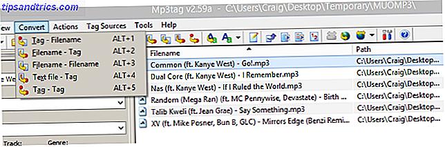 Mp3tag is een van de krachtigste tools voor het bewerken van je MP3-verzameling.  Naast batch-bewerkingsbestandsnamen en ID3-tags, kunt u met aangepaste acties uitgebreide wijzigingen aanbrengen aan uw MP3-bestanden.