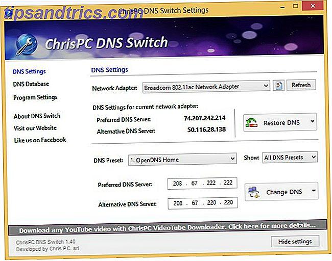 Αλλαγή προεπιλογών DNS στην πτήση με διακόπτη DNS του ChrisPC