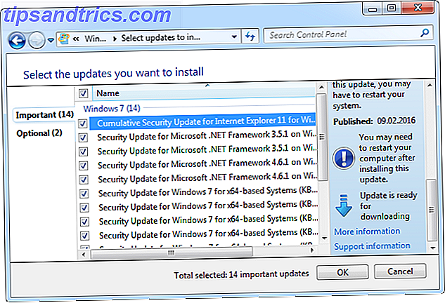 Windows 7 mises à jour disponibles