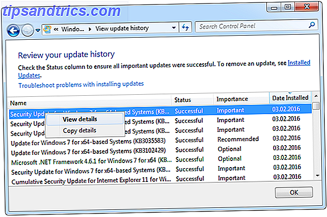 Windows 7 Update Historique